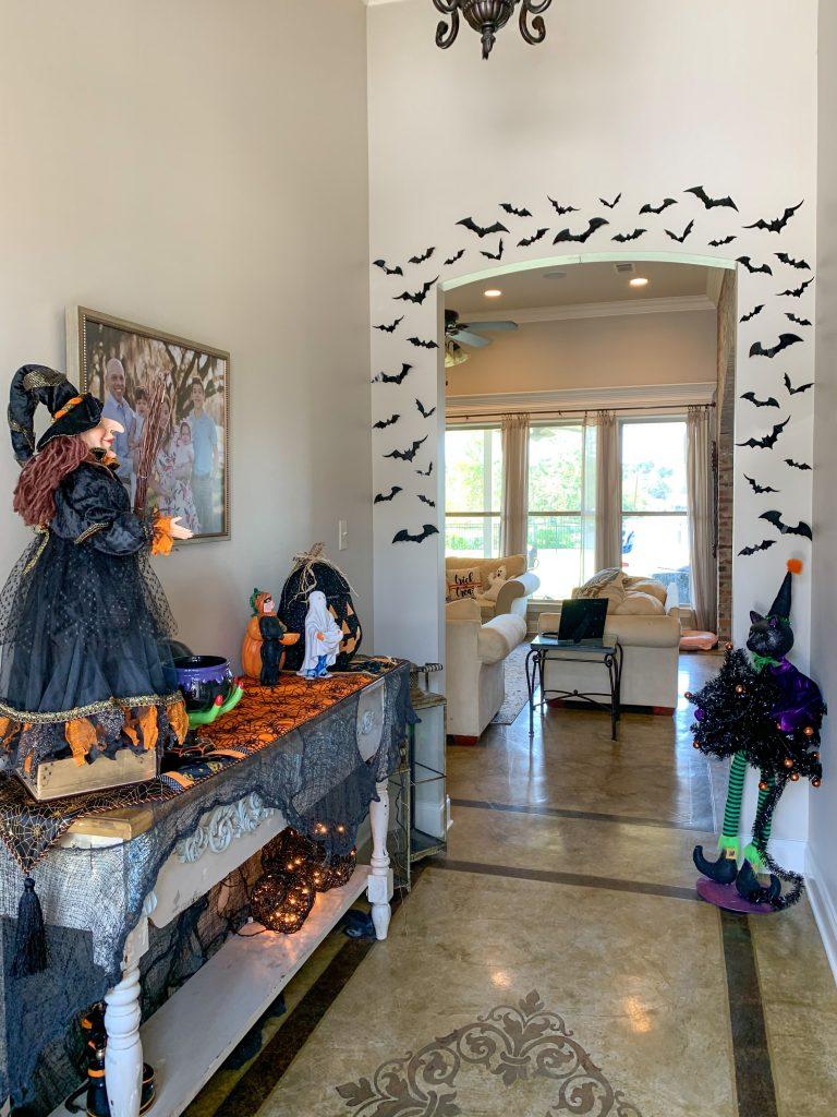 Foyer Halloween Decor