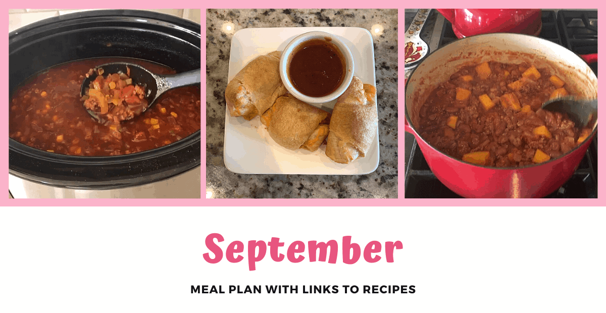 September Monthly Meal Plan
