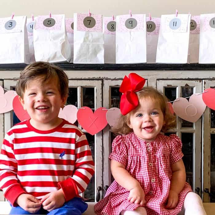 I received such great feedback from my Countdown to Christmas activity bundle, that I decided to create a similar one for Valentine's Day. Today I'm sharing exactly how I made this fun DIY Valentine's Day Countdown so you can recreate it for your own kids!