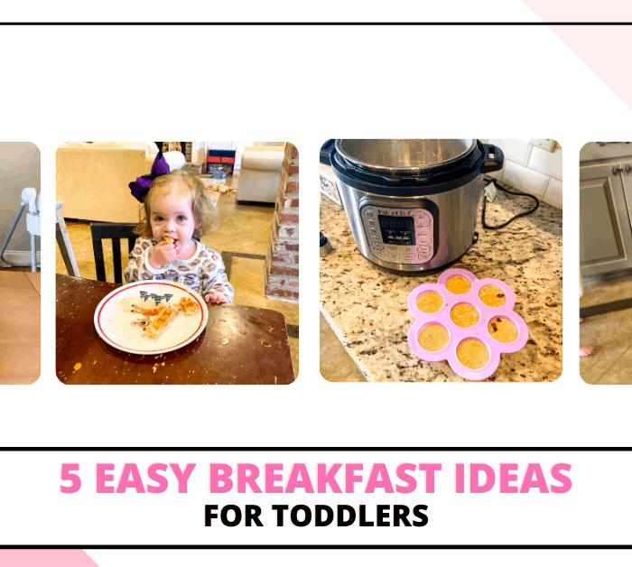 I don't know about you, but breakfast time at our house is nothing short of a circus. Between trying to get five people dressed and ready, to feeding the kiddos a (hopefully) nutritious breakfast, it's sometimes a struggle to get out of the door on time. Today I'm sharing 5 easy breakfast ideas for toddlers that you can prep in advance.
