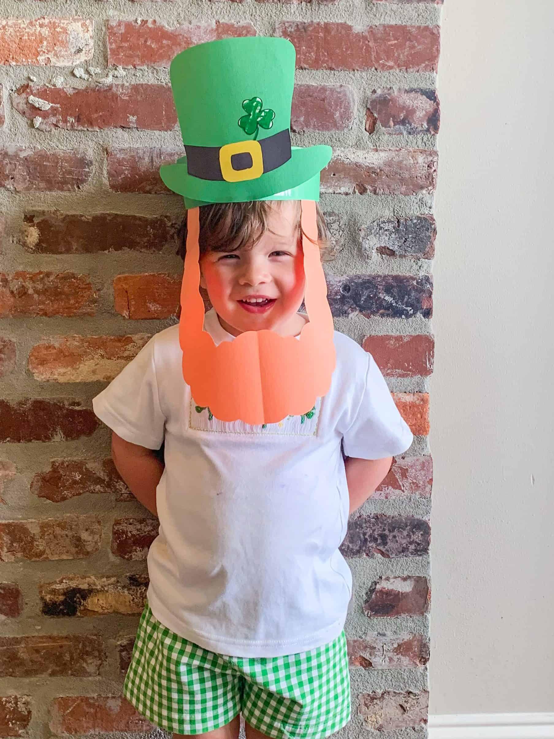 St. Patrick's Day Craft   Leprechaun Mask for Kids