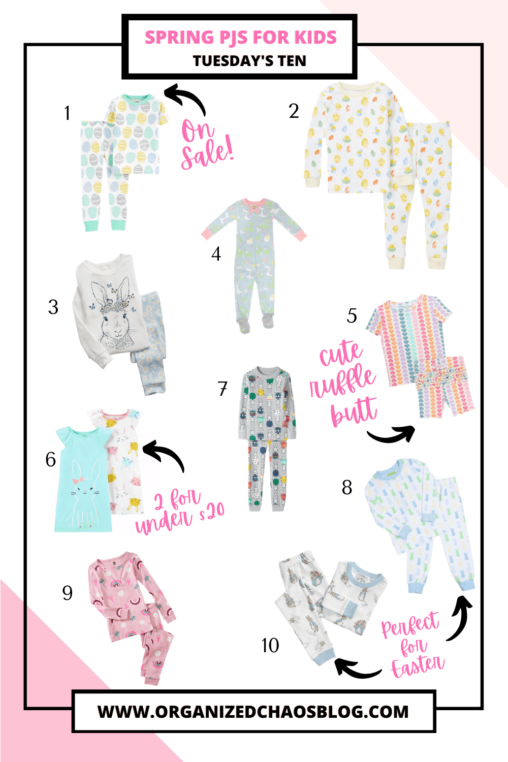 Spring PJs for Toddlers | Tuesday's Ten
