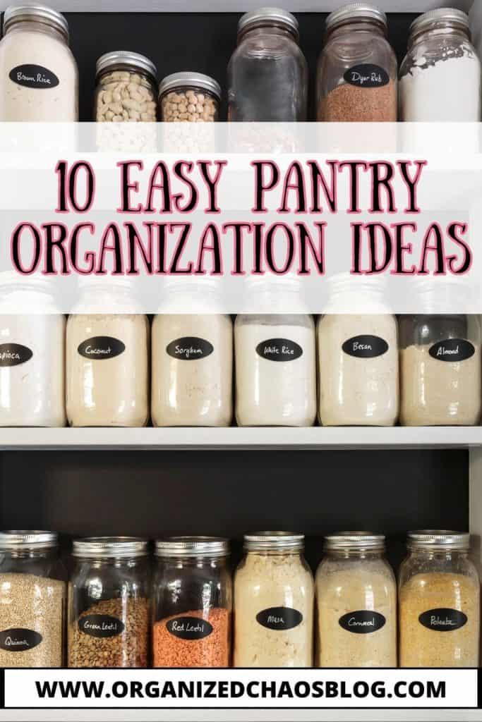 10 pantry organization ideas
