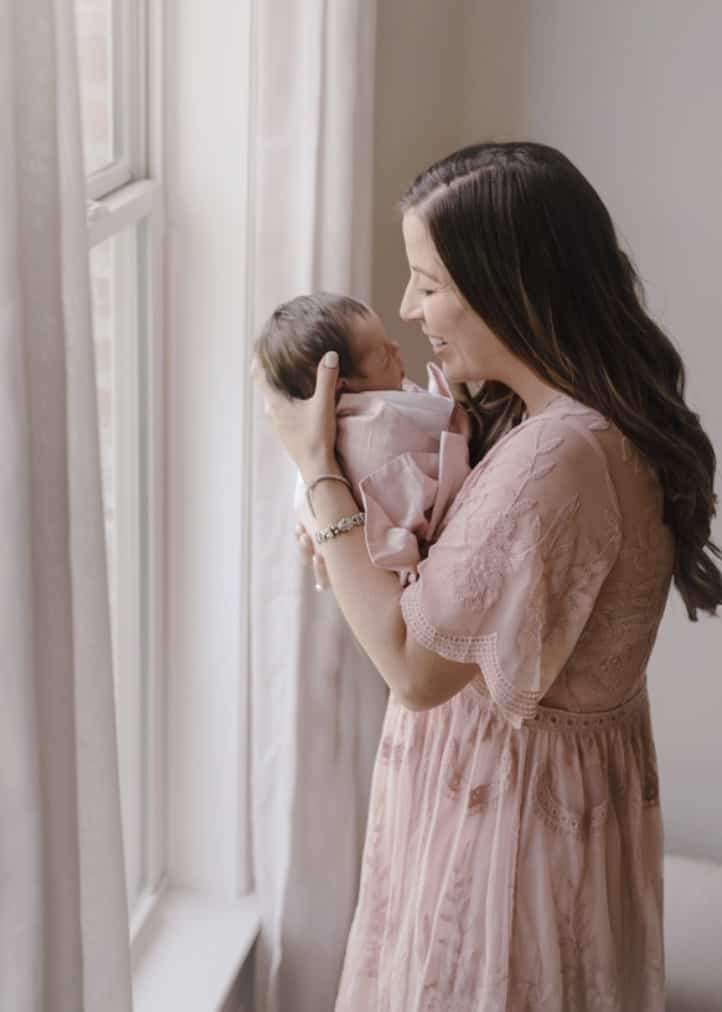 Maternity Maxi Dresses- Pink Blush
