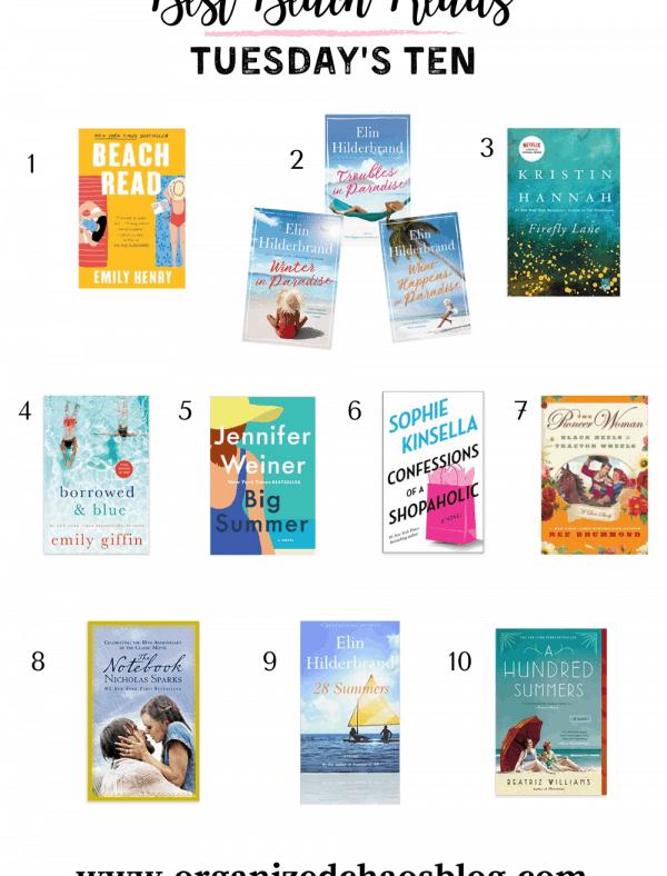 Best Beach Reads | Tuesday's Ten