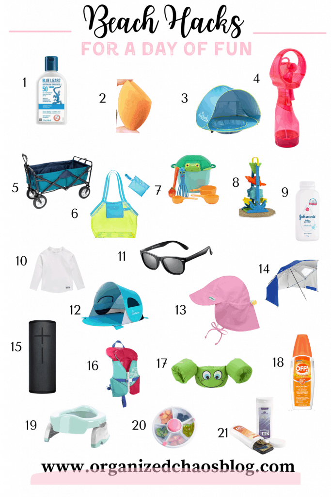 We recently took a family vacation to the beach for a week. I use the word vacation lightly because anyone with young kids knows a day at the beach isn't relaxing for mom and dad. These 21 beach hacks for a fun family day can make it a little less stressful though.