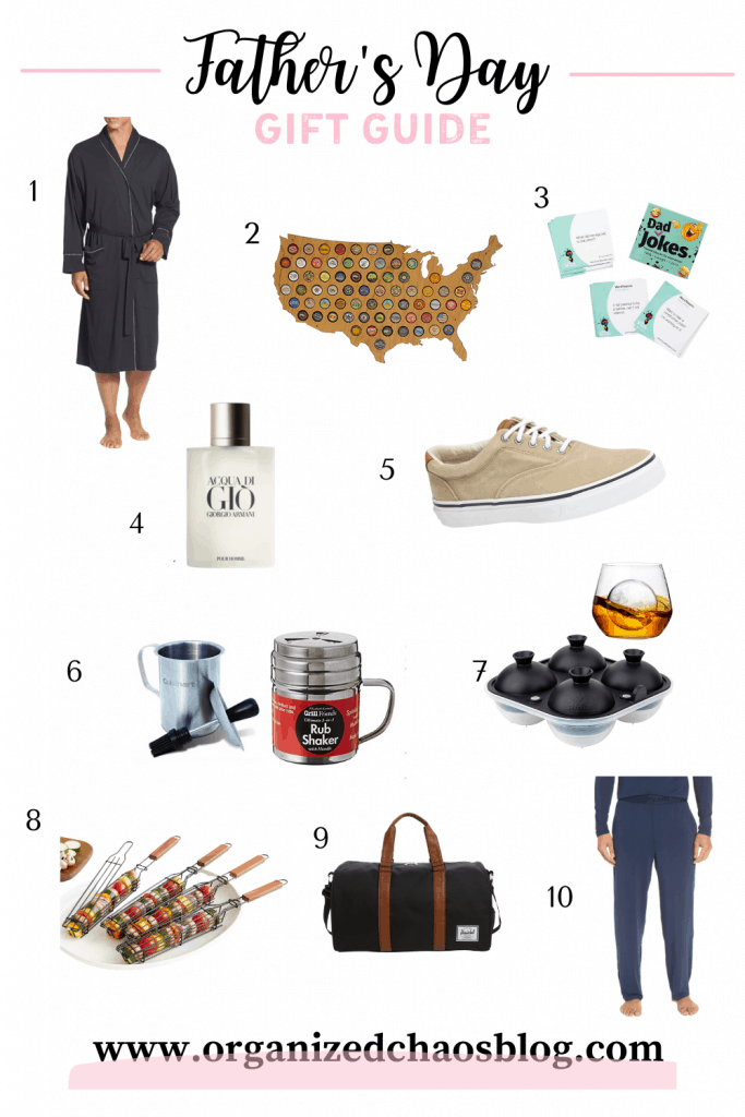 Father's Day gift guide 2021 | collage of 10 different gift ideas.